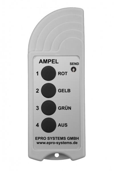 Funkfernbedienung mit Taster ROT, GELB, GRÜN und AUS für Ampel ROT/GELB/GRÜN