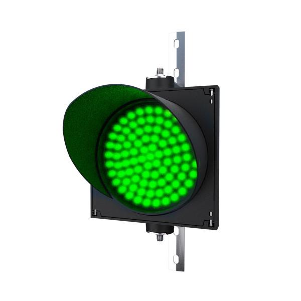 Ampel mit 200 mm grünem LED-Modul und einstellbarer Halterung