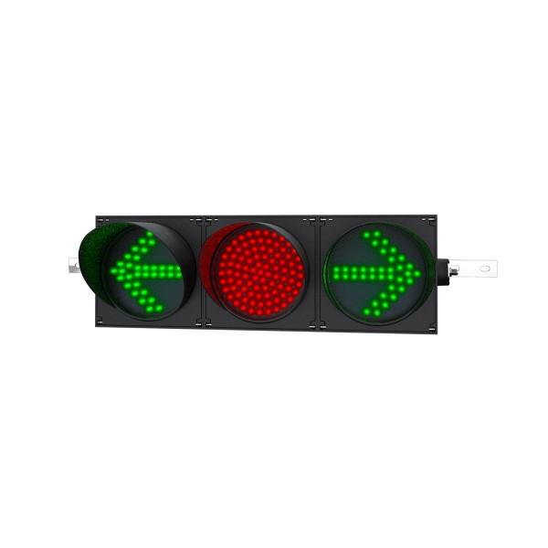 LED-Ampel 200 mm, grün(Pfeil)/rot/grün(Pfeil)