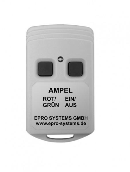 Kleine Funkfernbedienung mit Taster ROT/GRÜN und EIN/AUS für Ampeln ROT/GRÜN