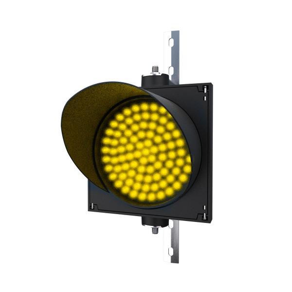 Ampel mit 200 mm gelbem LED-Modul und einstellbarer Halterung