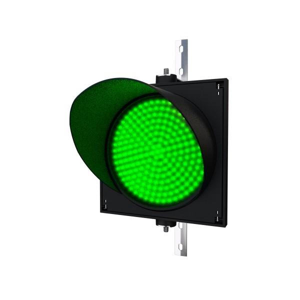 Ampel mit 300 mm grünem LED-Modul und einstellbarer Halterung
