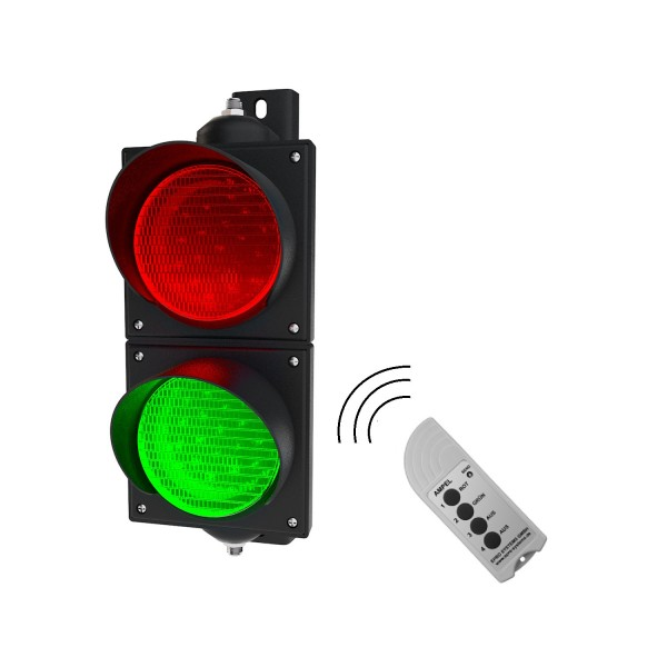 Funk-Ampeln rot/grün mit 100 mm LED-Modulen zur Funk-Fernbedienung