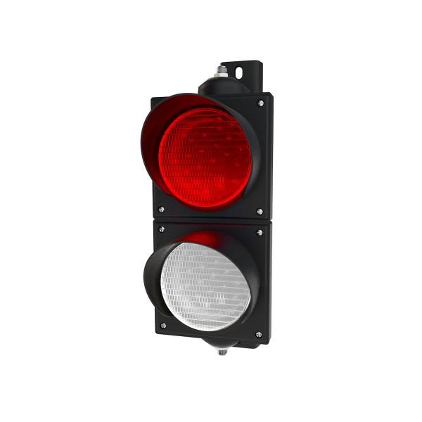 Ampel rot/weiß mit LED-Modulen Ø 100mm etwas kleiner als eine Verkehrsampel