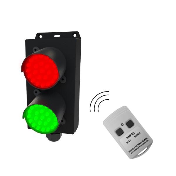 Personen-Zugangs-Ampel rot/grün mit Funk-Fernbedienung für Einlass an Büro, Geschäfte, Apotheken usw.