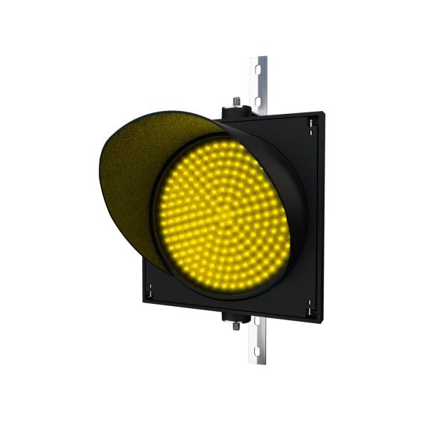 Ampel mit 300 mm gelbem LED-Modul und einstellbarer Halterung