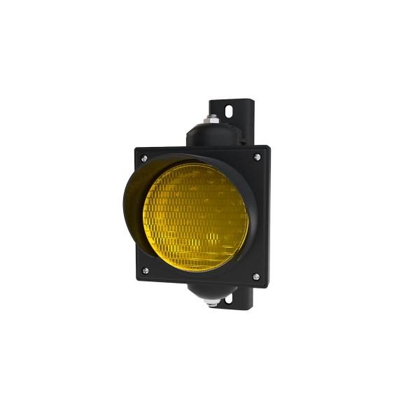 Ampel mit 100 mm gelbem LED-Modul und einstellbarer Halterung