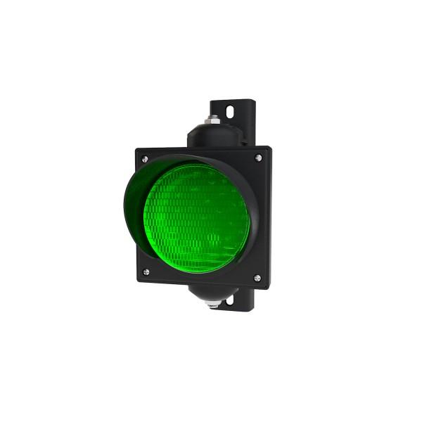 Ampel mit 100 mm grünem LED-Modul und einstellbarer Halterung
